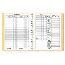 Bookkeeping Record, Tan Vinyl Cover, 128 Pages, 8-1/2 x 11 Pages, 2012