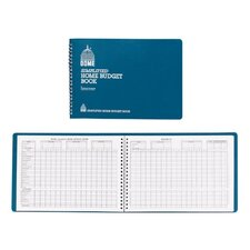 """Home Budget Book, 64 Pages, 10-1/2""""x7-1/2"""", Teal (Set of 2)"""