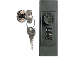 Locking Key Cabinet, 36-Key, Brushed Aluminum, 11 7/8 X 4 3/4 X 11