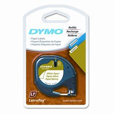 Letratag Paper Label Tape Cassettes, 2/Pack
