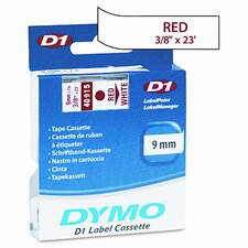 """D1 Standard Tape Cartridge for Label Makers, 0.37"""" x 23'"""