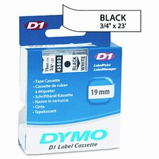 "D1 Standard Tape Cartridge for Label Makers, 0.75"" x 23'"