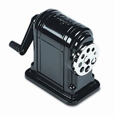 Boston Ranger 55 Table-Mount/Wall-Mount Manual Pencil Sharpener, Black