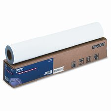 """Enhanced Adhesive Synthetic Paper, 135g, 24""""w, 100'l, White, Roll"""