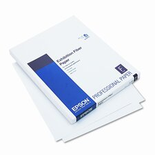 Exhibition Fiber Paper, Micro Porous Smooth Gloss, Letter, White, 25 Sheets