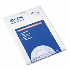S041331 Premium Photo Paper, 68 Lbs., 8-1/2 X 11, 20 Sheets/Pack