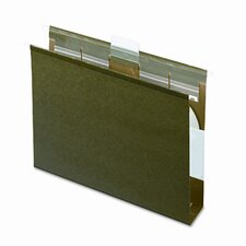 "Ready-Tab Ready-Tab Lift Tab, 2"" Capacity Hanging File Folders, Letter, 20/Box"
