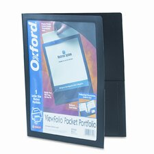 Oxford Viewfolio Polypropylene Portfolio, 50-Sheet Capacity (Set of 3)