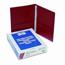 "Oxford Paper Twin-Pocket Portfolio, Tang Clip, Letter, 1/2"" Capacity, 25/Box"