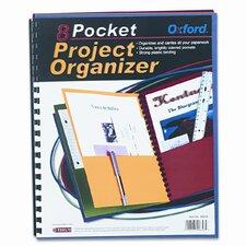 Oxford Elegant Stripe Eight-Pocket Organizer, Embossed Leather Grain (Set of 3)