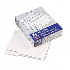 Two-Tone File Folders, 1/3 Cut Top Tab, Letter, 100/Box