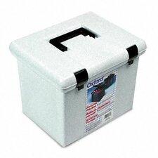 Portafile File Storage Box, Letter, Plastic, 13 7/8 X 14 X 11 1/8