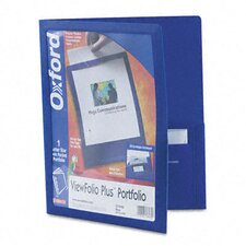 Oxford Viewfolio Plus Polypropylene Portfolio, 50-Sheet Capacity (Set of 2)