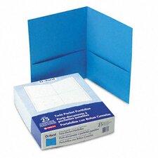 Oxford Twin-Pocket Portfolio, Embossed Leather Grain Paper, 25/Box