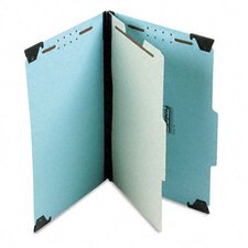 Pressboard Hanging Classification Folder with Dividers, Four-Section, Legal