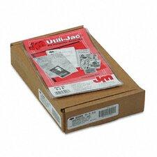 Oxford Utili-Jacs Heavy-Duty Clear Plastic Envelopes, 5 X 8, 50/Box