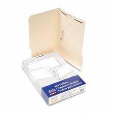 Manila One-Fastener Classification Folders with 1/3 Cut Tabs, Legal, 50/Box