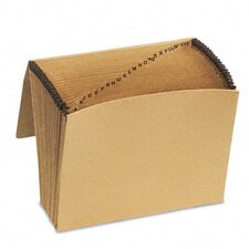 Essentials Essentials A-Z Expanding File, 21 Pockets, Kraft, Letter