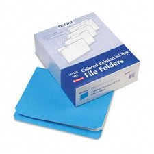 Two-Ply Reinforced File Folders, Straight Cut, Top Tab, Letter, 100/Box