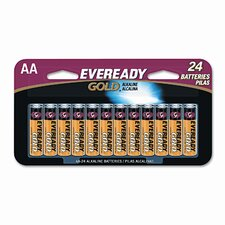 Eveready Gold Alkaline Batteries, Aa, 24 Batteries/Pack