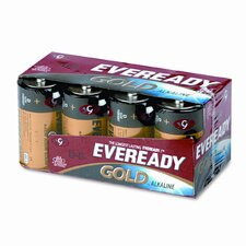 Eveready Gold Alkaline Batteries, D, 8 Batteries/Pack