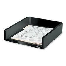 "Letter Tray, Holds Letter/A4 Paper, 11-1/8""x13""x2-1/2"", Black"