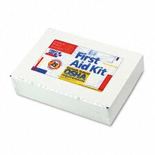 First Aid Kit for 25 People, 106 Pieces, Osha Compliant, Metal Case