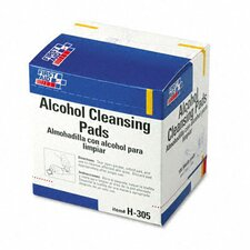 Alcohol Cleansing Pads, Dispenser Box, 100/Box (Set of 2)
