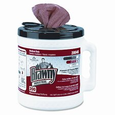 Brawny Premium All-Purpose Dry Wipes, 13 x 10, OE, 200/canister