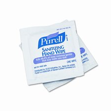 Premoistened Sanitizing Hand Wipes, Towelettes Individually Wrapped , 100/box (Set of 11)