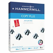 Copy Plus Copy Paper, 3-Hole Punch, 92 Brightness, 20Lb, Ltr, 500 Shts/Rm
