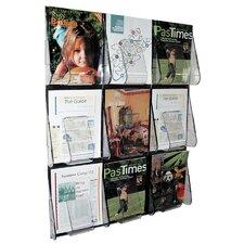 9 Pocket Magazine Wall Rack