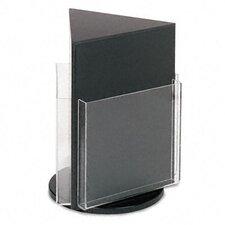 3 Pocket Countertop Revolving Rack