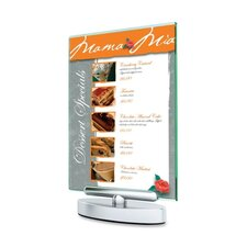 """Swivel Sign Holder, Stand-Up, 5""""x7"""",Clear"""