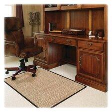 Medium Pile Carpet Straight Edge Chair Mat