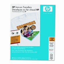 Iron-On Transfers for White/Light-Color T-Shirts, 8-1/2 x 11, White, 12 Sheets