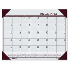 EcoTones Mountain Gray Monthly Desk Pad Calendar, 22 x 17, 2012