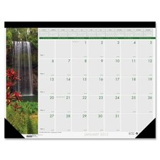 Waterfalls Desk Pad Calendar