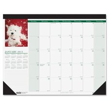 Eco Friendly Puppies Desk Pad Calendar