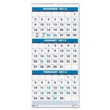 Three Month Vertical Wall Calendar