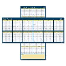 Laminated Yearly Wall Calendar