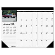 "Classic Cars 18.5"" x 13"" Desk Pad Calendar"