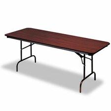 "Iceberg Premium Wood Laminate 60"" Rectangular Folding Table"