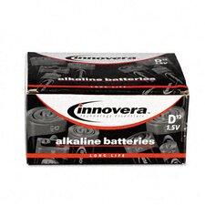 Alkaline Batteries, D, 12/pack