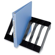 "Wide Sorter, Six Section, 13""x8-1/2""x6"", Black"