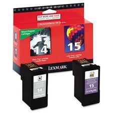 18C2239 (14, 15) Ink Cartridge, 2/Pack