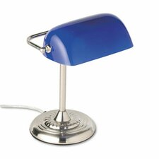 """Ledu Traditional Banker's 14"""" H Table Lamp with Novelty Shade"""