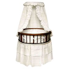 Elegance Bassinet with Eyelet Bedding