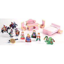 Castle Dollhouse 16 Piece Accessory Set
