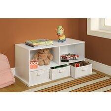 Shelf Storage Cubby with 3 Baskets